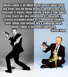Simon Pegg on the definition of geek - Album on Imgur