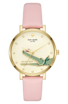 monterey alligator leather strap watch, 38mm