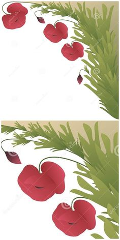 Illustration about Beautiful card with poppy flowers and leafs. Illustration of banner, bloom, grass - 52253920 Mothersday Cards, Poppy Flowers, Graphic Design Illustration, Botany, Poppies, Plant Leaves, Banner, Bloom, Abstract