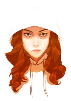 Black Widow - I like this image of her in the white hoodie, I feel like it's not something I see often.