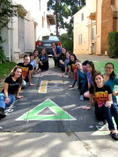 Alpha Gamma Delta Sidewalk! I found this on someone's page! Delta Tau- Chapman visiting the UCLA AGD house! -MA