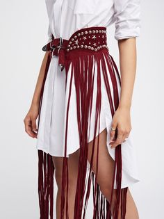 Understated Leather x Free People Paris Texas Maxi Belt exclusively in Ruby Fashion Mode, Look Fashion, Diy Fashion, Ideias Fashion, Fashion Outfits, Womens Fashion, Fashion Tips, Fashion Design, Fashion Belts