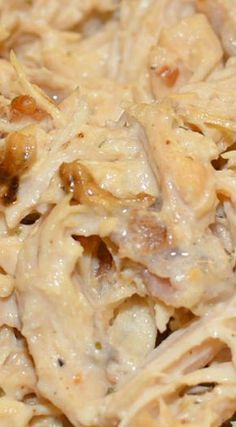 Slow Cooker Crack Chicken ~ Serve as sandwiches, but this chicken would also be great over pasta, rice, or by itself. However you choose to serve this, you'll love it. Enjoy!!