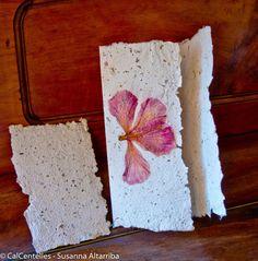 3 Invitaciones olorosas papel artesanal de papel por CalCentelles