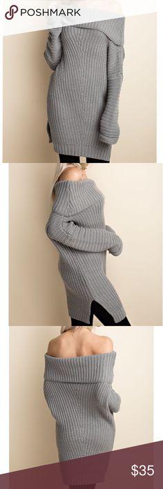 Oversized Ribbed sweater off shoulder Oversized Ribbed sweater off shoulder Sweaters