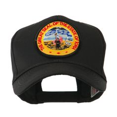 Mid State Seal Embroidered Patch Cap - Iowa