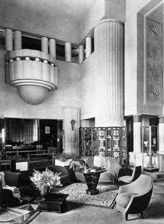 Hall in the Pavillon Primavera, A. Lvard. 1925 Paris Exposition. The  Primavera