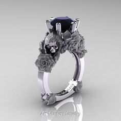 Love and Sorrow 14K White Gold 3.0 Ct Black by DesignMasters