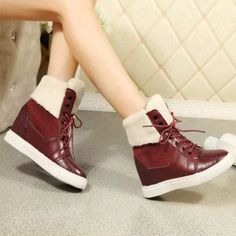 GET $50 NOW | Join RoseGal: Get YOUR $50 NOW!http://m.rosegal.com/boots/lace-up-fuzzy-hidden-wedge-868918.html?seid=7805420rg868918