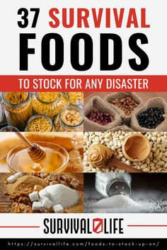 Every prepper needs to be familiar with the best foods to stock up on in preparation for a disaster. Here is a detailed list to help you get started. #survivalfoods #survivalstocks #survivalsupplies #survivalist #prepper #survival #preparedness #survivallife