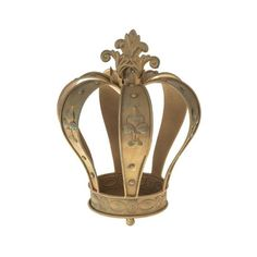 This is a beautiful and unusual garden planter! Made from metal and in the design of a vintage crown with a gorgeous antique gold finish.. this would add a touc
