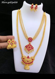 1 Gram Gold Jewellery, Silver Jewellery Indian, Indian Jewellery Design, Jewelery, Silver Jewelry, Jewelry Design, Gold Pendant, Pendant Jewelry, Gold Jhumka Earrings