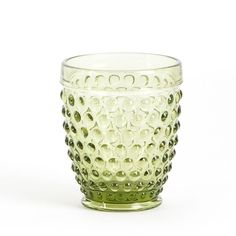 Hobnail design tumbler glasses for everyday entertaining. These glasses add a classic touch to any table.