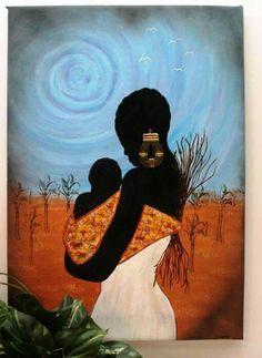 Art - Mother & Child  #African American art,  Black Art, Art - Mother & Child, , Art - Females Women Girls, Artwork  Artworks Arts
