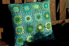 Green Cotton Crochet Cushion | Flickr - Photo Sharing!
