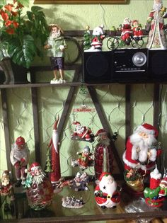 Part one of my SANTA'S Collection.  Most of them were given to me and dome I bought... Dic. 2016