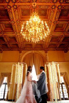 Ceremony, Flowers & Decor, Real Weddings, Ceremony Decor, Destination, Glamorous, Formal, Ballroom, Dramatic, Ceremony décor, florida real weddings, florida weddings