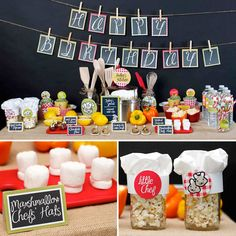 A Little Chef Cooking Birthday Party: Stephanie , this party is perfect for any birthday boy or girl who loves spending time in the kitchen. Click here to check out all the details. Source: Spaceships & Laserbeams