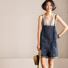 Korean Fashion Cowgirl Outfits Summer Overalls Causel Cotton Shorts Fashion Jeans Women Clothes N932A