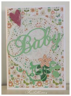 Green baby card