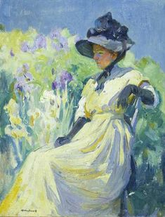 View Woman in a garden by Mabel May Woodward on artnet. Browse upcoming and past auction lots by Mabel May Woodward. Oil Painting For Sale, Garden Painting, Art Rules, 2d Art, Art Club, American Artists, Love Art, Painting Inspiration, Oil On Canvas