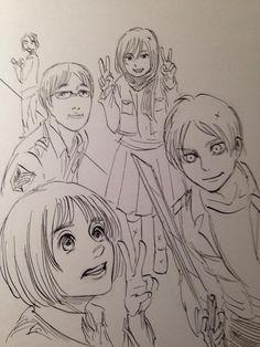 Resultado de imagen para hajime isayama bocetos