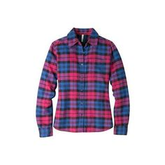 Women's Mountain Khakis Aspen Flannel Shirt - Sangria Long Sleeve... ($65) ❤ liked on Polyvore featuring tops, purple, purple flannel shirt, flannel shirts, purple top, extra long sleeve shirts and purple shirt