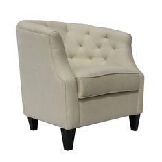 Cambridge White Fabric Accent Chair | Overstock.com