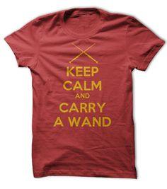 Keep Calm and Carry A Wand Tee