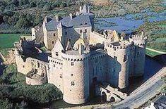 Château de Suscinio, situé sur la commune de Sarzeau,Morbihan,région Bretagne, France.