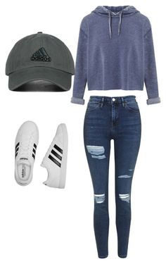 """Untitled #33"" by sporty-spice123 on Polyvore featuring Miss Selfridge, adidas, Topshop and adidas Originals"