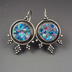 Hey, I found this really awesome Etsy listing at https://www.etsy.com/listing/130333051/mosaic-opal-earrings-with-granulation