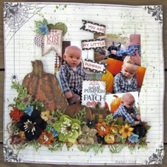 My FAVORITE Pumpkin.....is a wonderful Fall & Halloween layout by Lynne Forsythe.  She features all the Fall colored flowers from Petaloo such as:  the Burlap flower collection and the Textures flower collection along with paper from Authentique!  Come learn how to DIY...Do it Yourself ... on the Petaloo Blog!