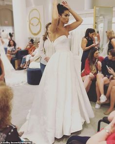 The Bachelor's Ashley Iaconetti tied the knot with Jared Haibon in Rhode Island on Sunday. And the reality TV siren looked every bit the beautiful bride. Celebrity Wedding Photos, Celebrity Weddings, Jared Haibon, Wedding Bells, Wedding Gowns, Ashley Iaconetti, Wild Girl, Dream Dress, Beautiful Bride