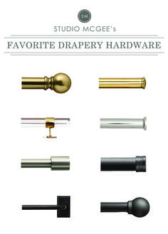 A Roundup of Our Favorite Drapery Hardware