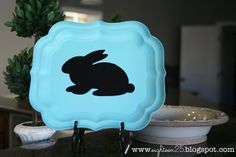 eighteen25: bunny silhouette tray for Easter using Vinyl
