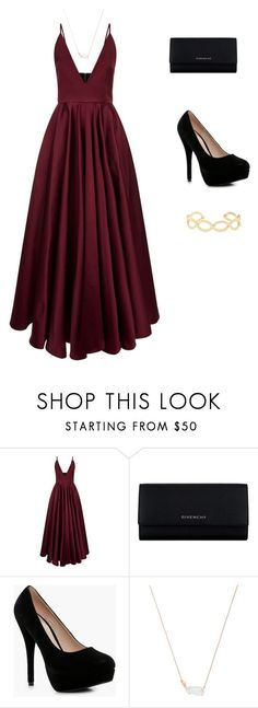 gala pati by camigonzalez-ii on Polyvore featuring moda, La Mania, Boohoo, Givenchy, Kendra Scott and Accessorize