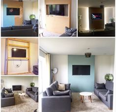 My DIY false chimney breast before and after