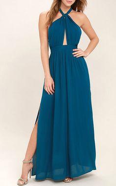 Watch Me Teal Blue Maxi Dress via @bestmaxidress