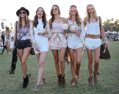 What to Wear to a Music Festival- Some outfit inspiration. Click to read more or re-pin for later