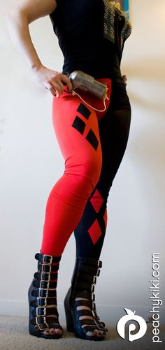Hey, I found this really awesome Etsy listing at https://www.etsy.com/listing/102687431/harley-quinn-leggings-custom-made