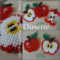 hama beads play food toy dinette