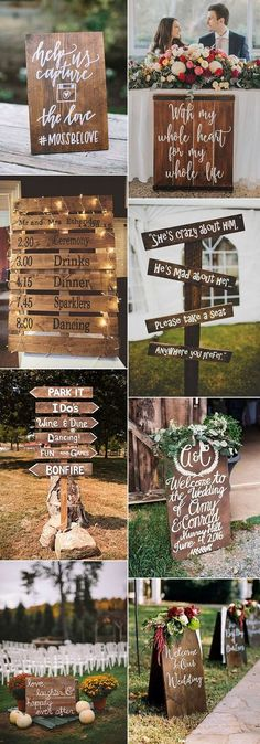 super easy diy rustic wood wedding sign decoration ideas #ShabbyChicWeddingIdeas