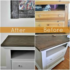 Bedroom dresser redo - from pine to contemporary.