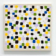 """Hugo Pernet, """"Prequel"""", 2013 Acrylique sur toile, 50 x 50 cm. Le peintre Hugo Pernet est mis à l'honneur dans une nouvelle exposition à la galerie Triple V, intitulée """"Suite Bourguignonne"""". Y sont exposées les œuvres les plus récentes de l'artiste contemporain dijonnais. Les tons phares de cette exposition sont le vert, le jaune et le noir avec des peintures telles que """"Solitaires"""", """"Prequels"""", """" Tilles"""", ou encore """" WTF""""."""