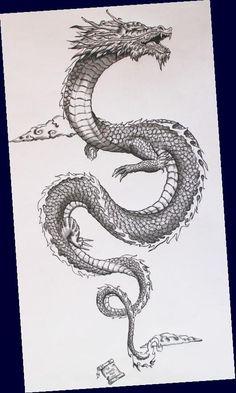 Vintage Tattoos, Vintage Tattoo Sleeve, Japan Tattoo, Tiger Tattoo Sleeve, Arm Tattoo, Dragons, Tattoo Bein, Dragon Tattoo For Women, Japanese Tattoo Art