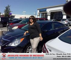 Thank you to Juanita Leadon on your new 2013 Hyundai Sonata from Larry Green  and everyone at Absolute Hyundai!