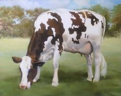 Hey, I found this really awesome Etsy listing at https://www.etsy.com/listing/164634943/brown-and-white-cow-giclee-print