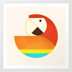 Round Bird - Macaw - $17