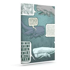 "Sophy Tuttle ""Whale Talk"" Outdoor Canvas Wall Art"